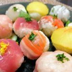 Easy and cute!  Bite-sized Temari sushi